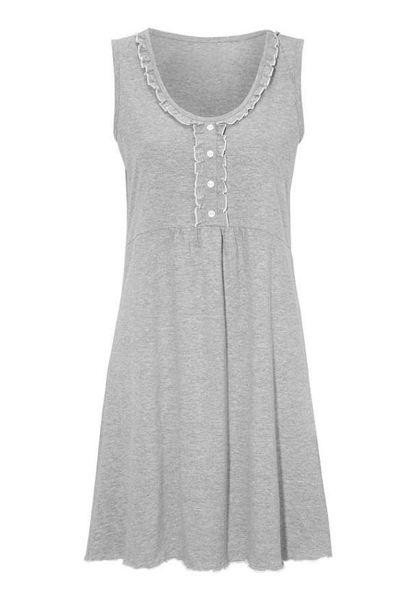 Cellbes Koszula nocna szary melanż female szary 54/56. Kolor: szary. Materiał: jersey. Wzór: melanż