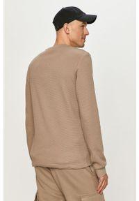 Szara bluza nierozpinana Calvin Klein Jeans z aplikacjami, na co dzień