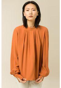 IVY & OAK - Bluzka Brianna. Kolor: brązowy. Materiał: tkanina. Długość rękawa: długi rękaw. Długość: długie