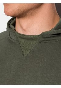 Ombre Clothing - Bluza męska z kapturem B1085 - khaki - XXL. Typ kołnierza: kaptur. Kolor: brązowy. Materiał: bawełna, poliester