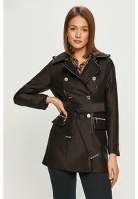 Czarny płaszcz Morgan na co dzień, bez kaptura, casualowy