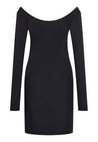 Samsoe & Samsoe - Samsøe Samsøe Sukienka codzienna Sik Long Solid 265 F00002017 Czarny Slim Fit. Okazja: na co dzień. Kolor: czarny. Typ sukienki: proste. Styl: casual #4