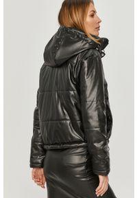 Czarna kurtka Answear Lab na co dzień, z kapturem