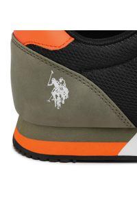 U.S. Polo Assn - Sneakersy U.S. POLO ASSN. - Brandon2 WILYS4127S0/MY2 Blk/Gre. Okazja: na co dzień. Kolor: czarny, zielony, wielokolorowy. Materiał: skóra ekologiczna, materiał. Szerokość cholewki: normalna. Styl: casual