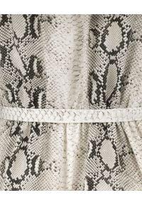 SELF LOVE - Sukienka we wzory Ravello. Kolor: szary. Materiał: wiskoza, materiał. Wzór: motyw zwierzęcy. Typ sukienki: rozkloszowane. Styl: elegancki. Długość: mini