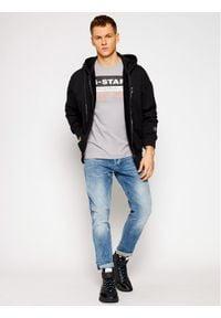 G-Star RAW - G-Star Raw T-Shirt Originals Label Logo D18261-336-B959 Szary Slim Fit. Kolor: szary