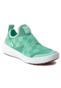 Zielone buty sportowe Vans z cholewką