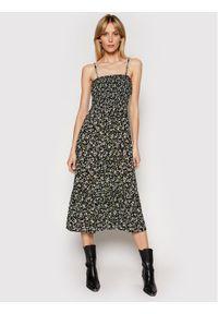 Tommy Jeans Sukienka codzienna Floral DW0DW09852 Czarny Regular Fit. Okazja: na co dzień. Kolor: czarny. Sezon: lato. Typ sukienki: proste. Styl: casual
