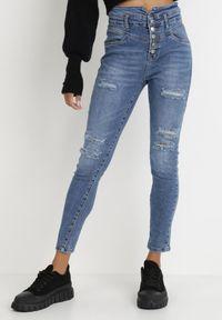 Born2be - Niebieskie Jeansy Skinny Ideon. Stan: podwyższony. Kolor: niebieski. Długość: długie