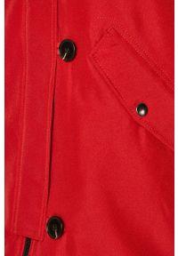 Fioletowa kurtka Vero Moda z kapturem