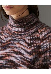 Burberry - BURBERRY - Sweter z kaszmiru. Okazja: na co dzień. Typ kołnierza: golf. Kolor: brązowy. Materiał: kaszmir. Styl: casual