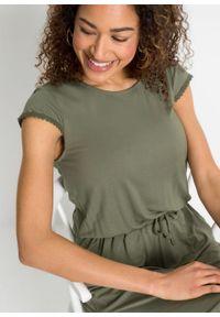 Sukienka midi z dżerseju z przyjaznej dla środowiska wiskozy bonprix oliwkowy. Kolor: zielony. Materiał: jersey, wiskoza. Długość: midi