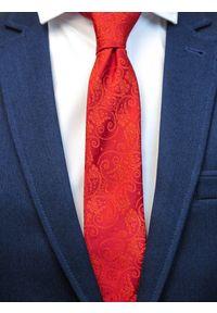 Czerwony krawat paisley