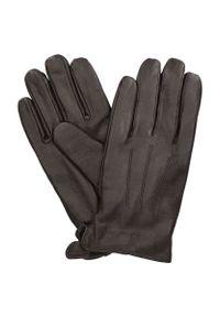 Brązowe rękawiczki Lancerto na zimę, eleganckie