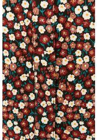 Czerwona sukienka Jacqueline de Yong oversize, z długim rękawem, w kwiaty, na co dzień