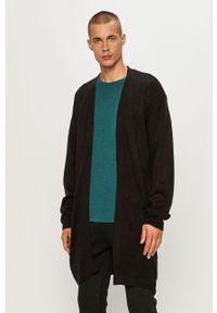 Czarny sweter rozpinany Brave Soul casualowy, na co dzień