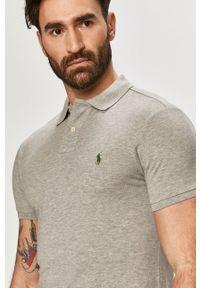 Szara koszulka polo Polo Ralph Lauren polo, gładkie