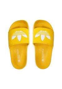 Adidas - adidas Klapki adilette Lite FX5908 Żółty. Kolor: żółty
