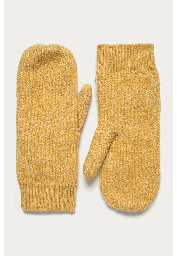 Pomarańczowe rękawiczki Pieces
