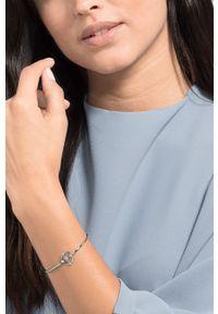 Srebrna bransoletka Swarovski ze stali szlachetnej, z aplikacjami, z kryształem