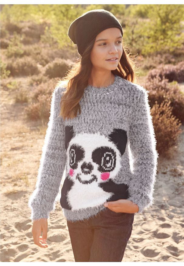 Szary sweter bonprix długi, na zimę