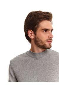 TOP SECRET - Sweter półgolf z miękkiej dzianiny. Kolor: szary. Materiał: dzianina. Wzór: gładki. Sezon: wiosna #5