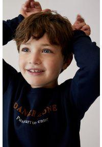 Niebieska bluza Mango Kids z nadrukiem, na co dzień