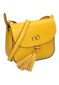 Nobo - Torebka damska listonoszka żółta NOBO NBAG-J3780-C002. Kolor: żółty. Dodatki: z frędzlami. Materiał: skórzane. Styl: boho, klasyczny
