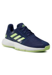 Niebieskie półbuty Adidas casualowe, na co dzień