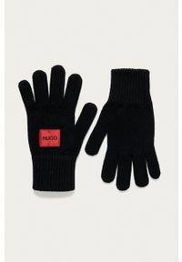 Hugo - Rękawiczki. Kolor: czarny