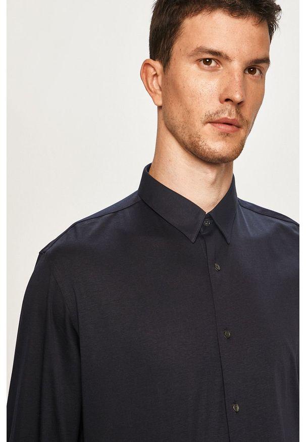 Niebieska koszula Pierre Cardin z klasycznym kołnierzykiem, długa, klasyczna