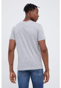 Tom Tailor - T-shirt. Okazja: na co dzień. Kolor: szary. Materiał: bawełna, dzianina. Wzór: nadruk. Styl: casual