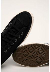 Czarne tenisówki Converse z cholewką, z okrągłym noskiem, na obcasie #4