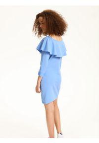Niebieska sukienka TROLL na lato, z długim rękawem #5