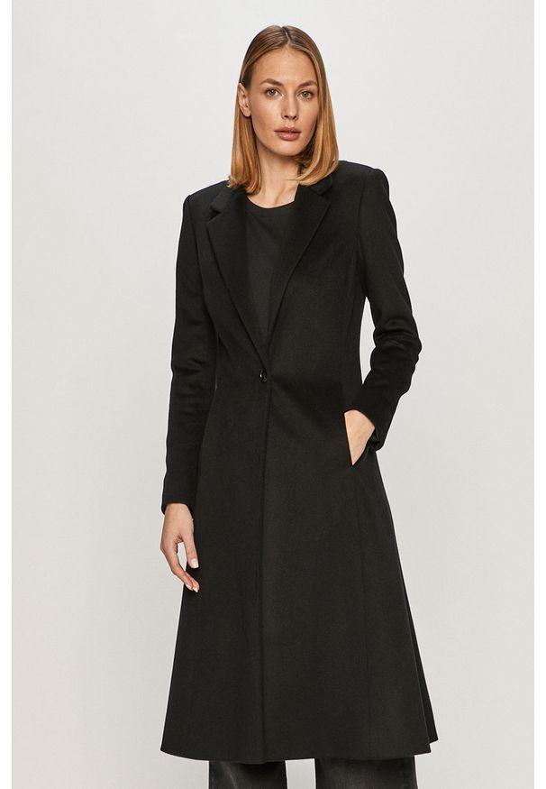 Czarny płaszcz AllSaints na co dzień, bez kaptura