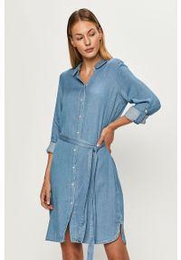 Niebieska sukienka Vila prosta, casualowa, mini