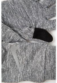 Nike - Rękawiczki. Kolor: szary. Materiał: tkanina, skóra, włókno