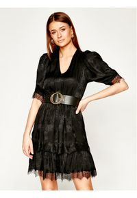 Czarna sukienka The Kooples na co dzień, casualowa, prosta