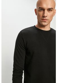 Czarna bluza nierozpinana Jack & Jones casualowa, bez kaptura
