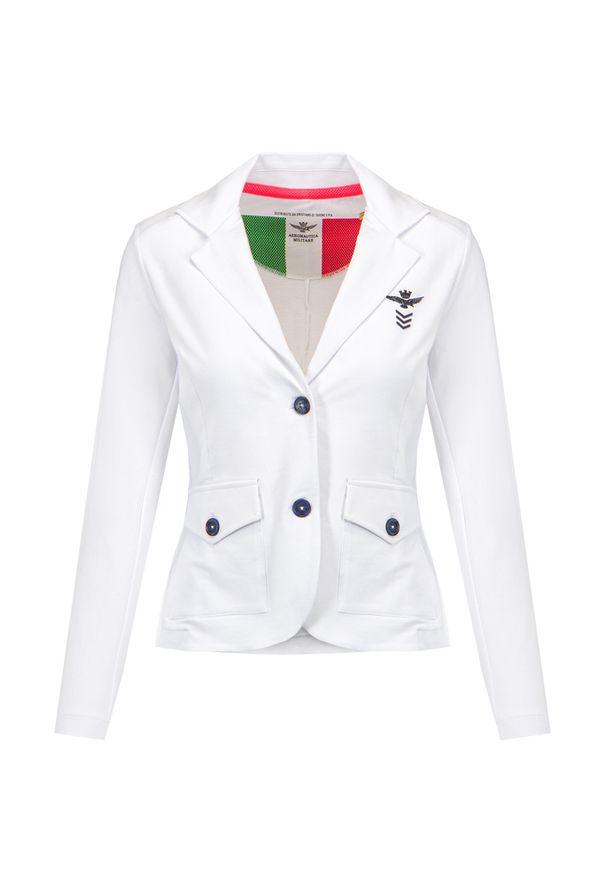 Aeronautica Militare - Marynarka damska AERONAUTICA MILITARE. Materiał: bawełna, elastan. Wzór: aplikacja. Styl: sportowy