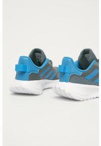 Szare buty sportowe Adidas z cholewką, z okrągłym noskiem