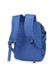 Wittchen - Plecak basic mały. Kolor: niebieski. Materiał: poliester. Wzór: paski. Styl: casual