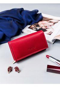 4U CAVALDI - Portfel damski czerwony CAVALDI RD-07-GCL RED. Kolor: czerwony. Materiał: skóra