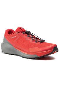 Czerwone buty do biegania salomon