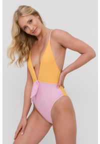 Vero Moda - Strój kąpielowy. Kolor: różowy