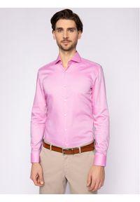 Różowa koszula biznesowa Hugo