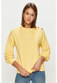 Jacqueline de Yong - Bluza. Kolor: żółty. Długość rękawa: długi rękaw. Długość: długie