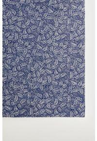 Mango Man - Chusta HOJAS. Kolor: niebieski. Materiał: tkanina, materiał