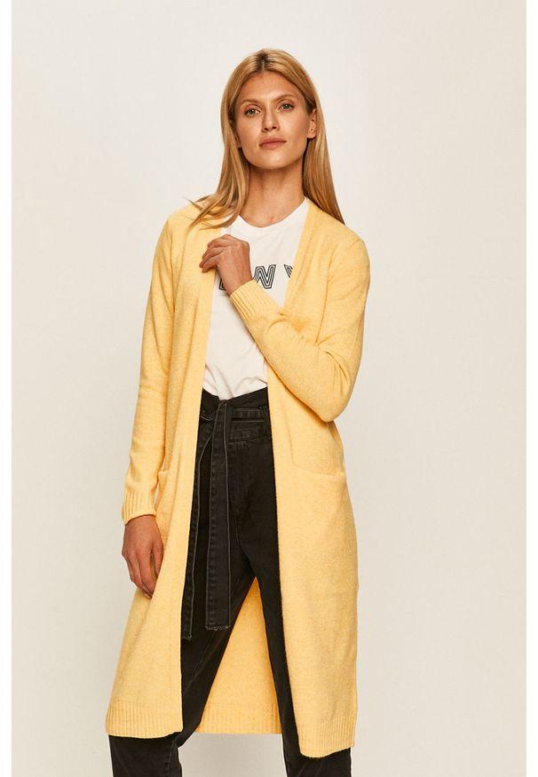 Żółty sweter rozpinany Vila