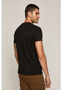Czarny t-shirt medicine retro, z nadrukiem